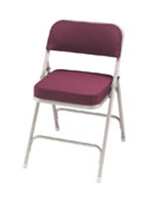 Fabric Uphostered Folding Chair Model 3200