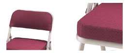 Model 3200 Fabric Upholstered Folding Church Chair close up view