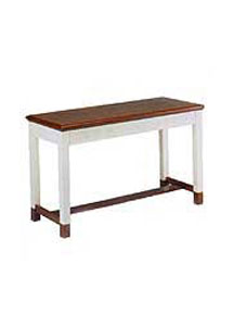 Colonial Open Communion Table with two-tone color scheme
