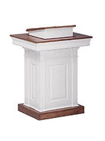Wooden Savannah Pulpit includes adjustable Bible rest that can accommodate a variety of heights