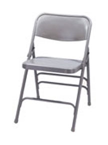 Triple Brace Folding Chair Model 300 in gray