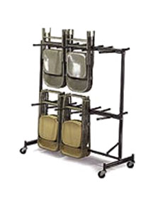 Two-tier folding chair caddy