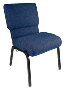 Blue Genesis church chair 20.5 inches wide