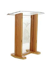 Wooden Messenger Pulpit with acrylic front and top