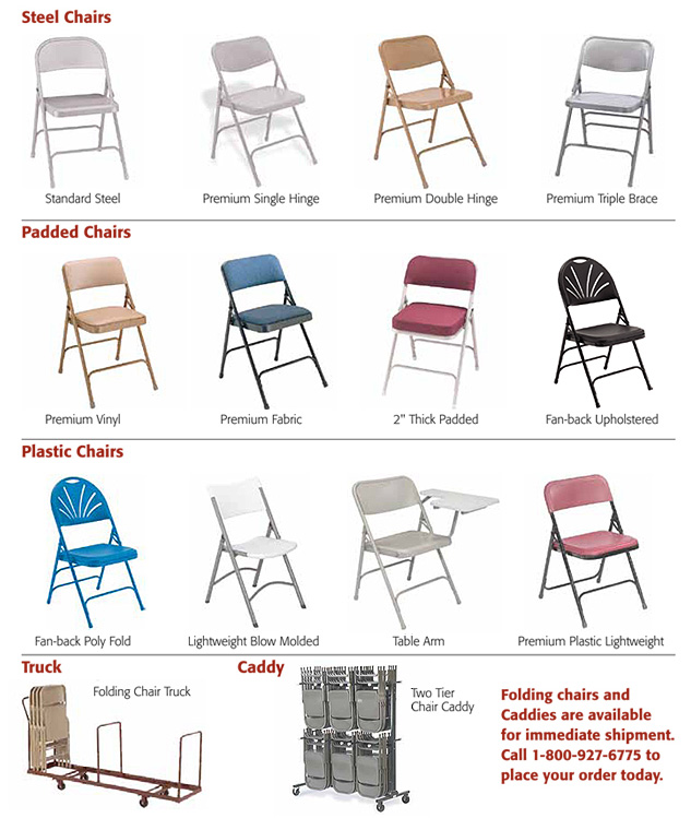 Upholstered virco folding chairs in padded seat - Portable Amp Folding