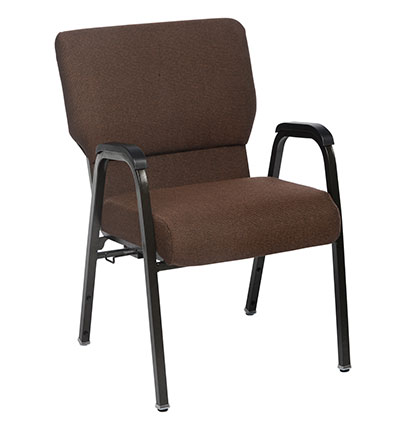 Brown Genesis arm chair 22 7/8 inches wide