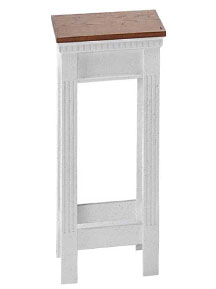 Open style colonial two-tone flower stand