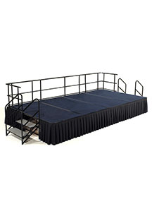 Single height portable stage
