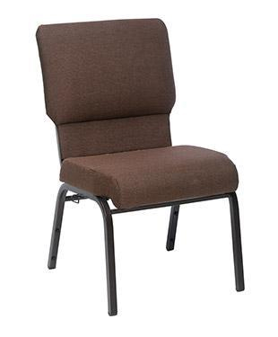 Brown Jubilee church chair 20.5 inches wide