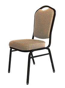 Beige stackable banquet chair