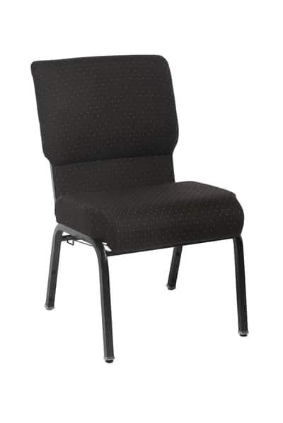 Black Genesis pew chair 20.5 inches wide