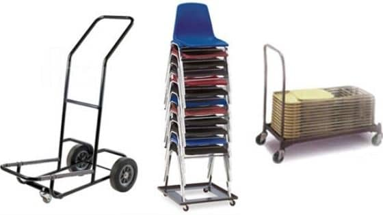 A church chair hand cart, cart, dolly, and large cart
